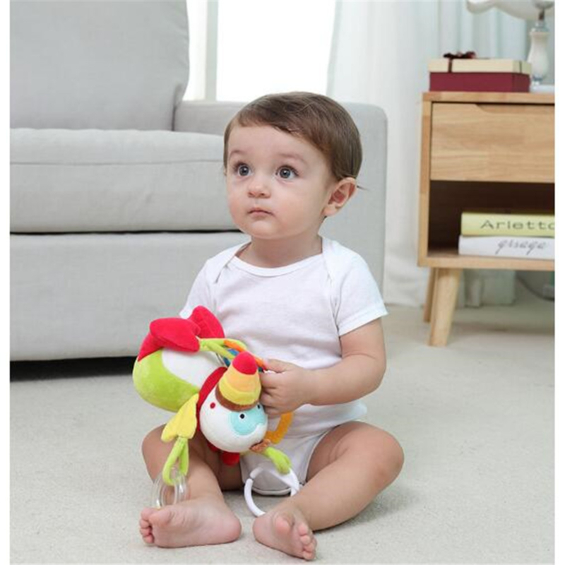 Newborn Baby Bed Bell 0-1 Years Plush Toy Bed Around Trolley Pendant 3-12 Months Baby Soothe The Toy Exquisite Embroidery