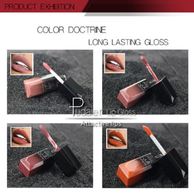2019 Hot Waterproof Liquid Lip Gloss Metallic Matte Lipstick Cosmetic Sexy Batom Mate Lip Tint Makeup Lasting 24Hours Mate Levre 4