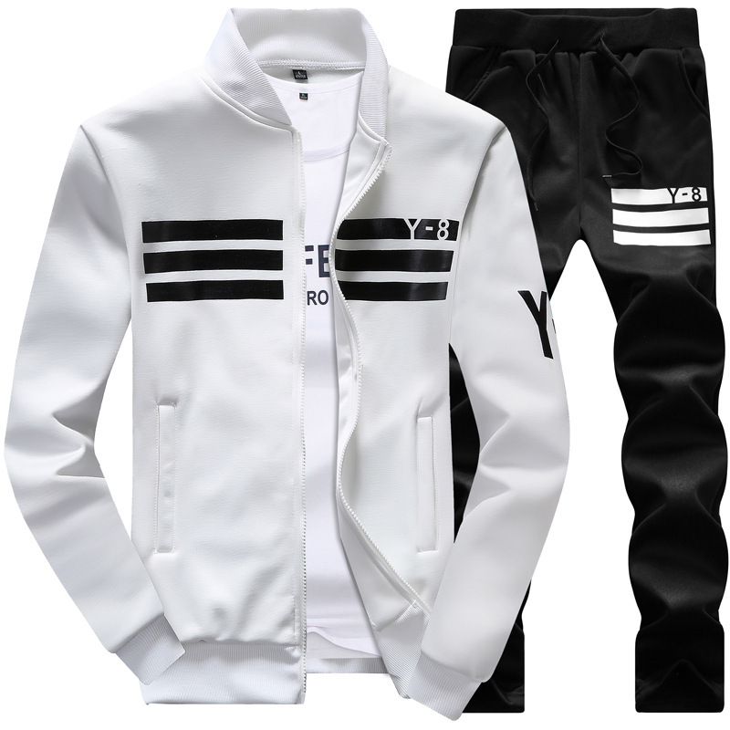 2018 Spring And Autumn New Style MEN'S Sport Suit Casual Long Sleeve Baseball Uniform Coat Y8 Students Hoodie Suit Men's