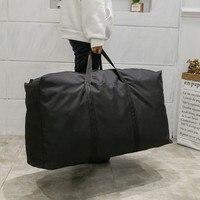 Unisex Große Kapazität Klapp Duffle Tasche Reise Kleidung Lagerung Taschen Zipper Oxford Wochenende Tasche Dünne Tragbare Moving Gepäck Tasche