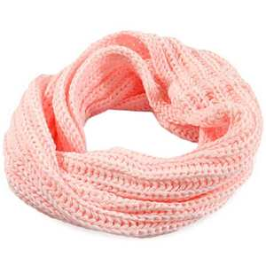 Women Scarf Warmer Neckerchief Wool-Neck Circle Knitted Solid Cowl Breathable New
