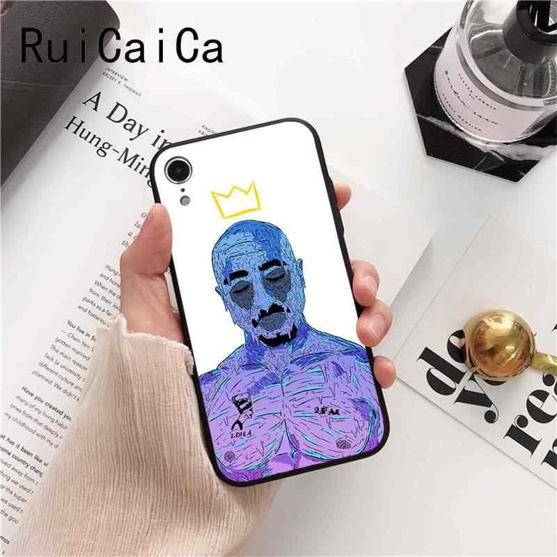 Ruicaica 2pac Tupac i Biggie raper pokrywa czarny Soft Shell etui na telefon dla iPhone 8 7 6 6S 6 plus X XS MAX 5 5S SE XR Fundas