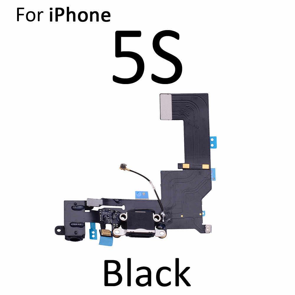 Hoge Kwaliteit Opladen Flex Kabel Voor Iphone 5S Se 6 6S 7 8 Plus Usb Charger Port Dock connector Met Mic Flex Kabel