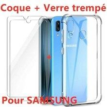 Coque Antichoc + Vitre Verre Trempe Etui For Samsung A6 A7 A8 A9 A10/a20e/a40/a50
