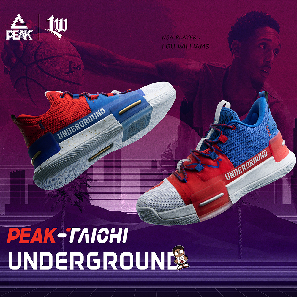 PEAK TAICHI Basketball Shoes Underground Lou Williams Sneakers Adaptive Cushioning Men's Footwear Wearable Non-slip Sports Shoes