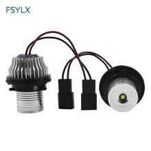 FSYLX 5set 10W LED Marker DRL scheinwerfer Angel Eyes für BMW E39 E53 E60 E61 E63 E64 E65 e66 E87 Auto LED angel eyes marker