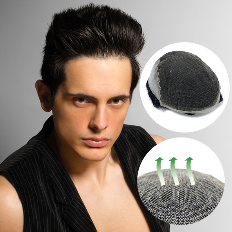 Q6 Base Style Swiss Lace Hair System Mens Hair System Men Hair Replacement Free Shipping