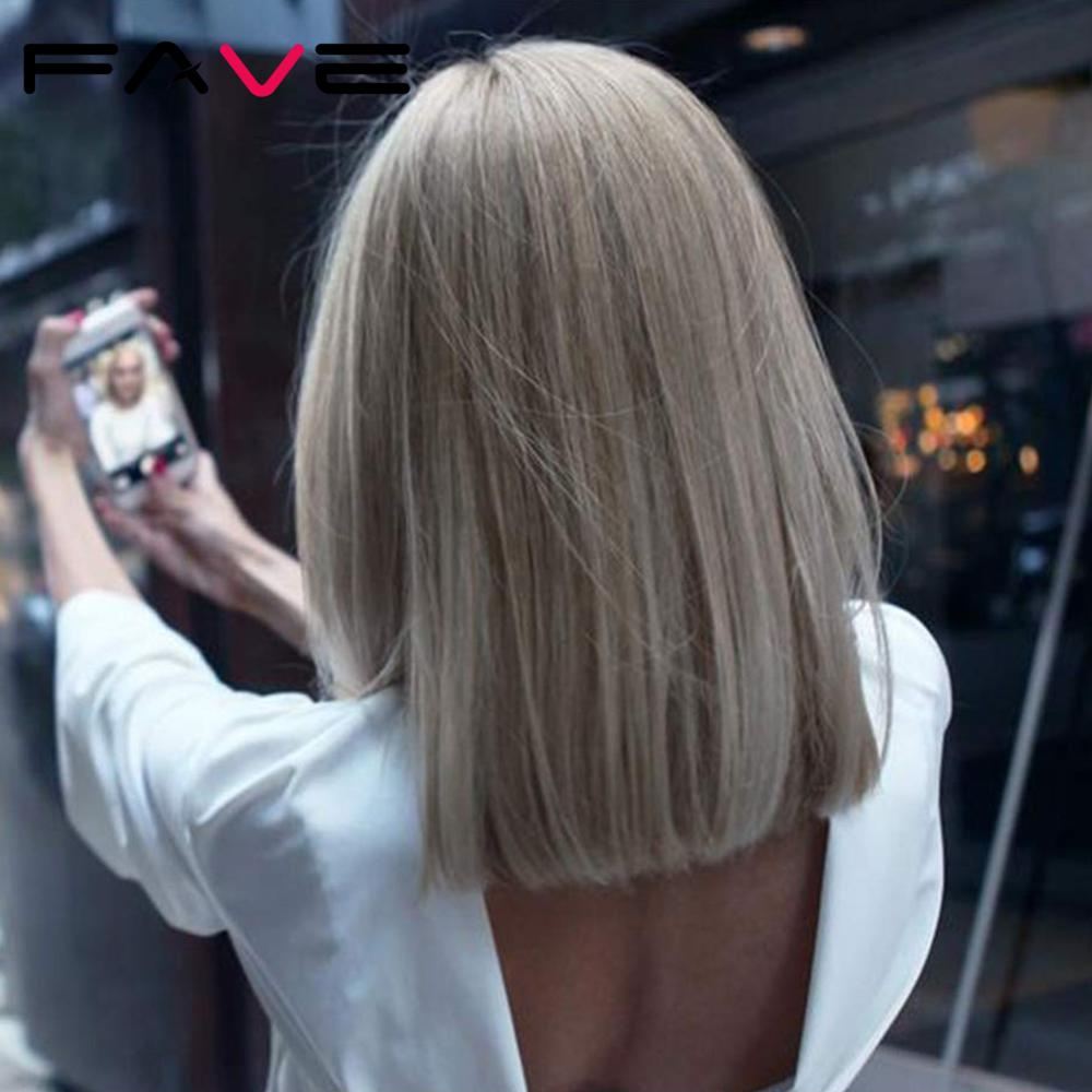Fave perucas sintéticas para cosplay, cinza loiro preto rosa reto 14 Polegada, resistente ao calor fibra de fibra
