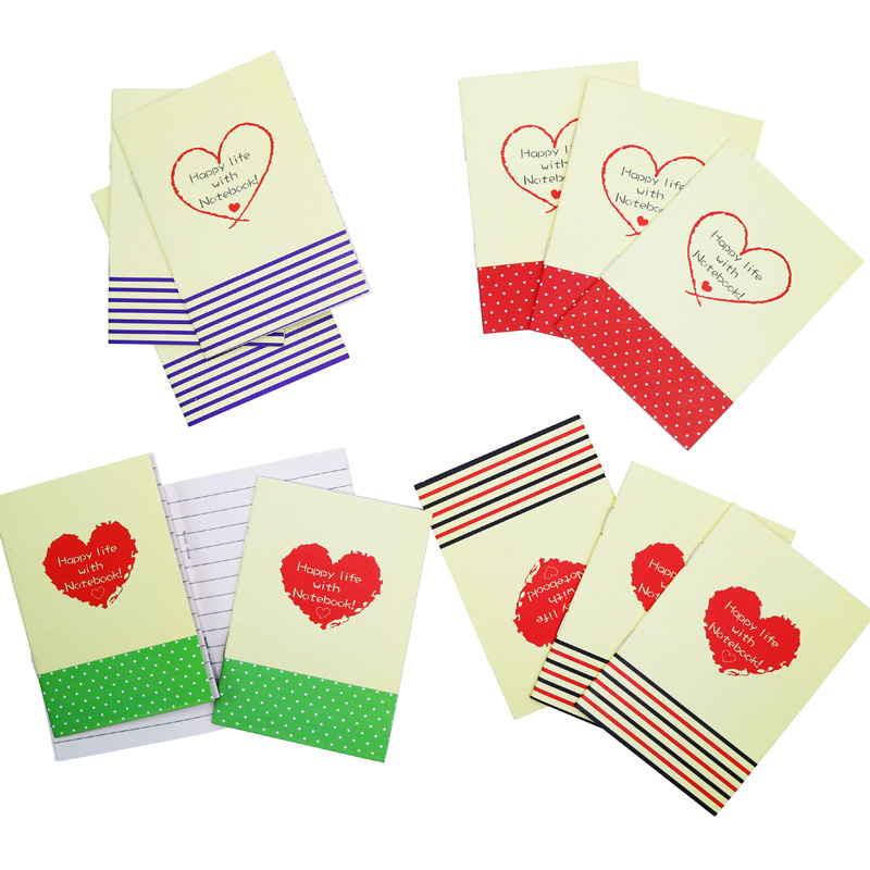 Korean Stationery Small Book Cartoon Love Notepad Soft Surface Copy Kindergarten Students Prize Small Gifts