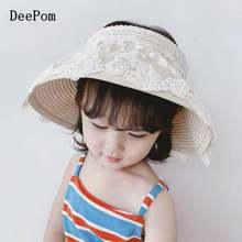 Шляпка от солнца deepom для девочек летняя пляжная Панама с