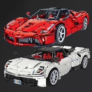 Image 1 - QWZ Neue 1:10 RC Super Racing Auto Ziegel Technik MOC Modell Baustein Fernbedienung Auto Racer Spielzeug Geschenk Für kinder