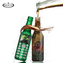 SERVO Wine bottle mini phone V8  bluetooth Dialer HD Telephone magic voice one key recorder small mobile phone Russian language