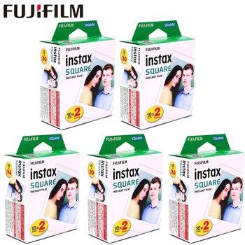 Fujifilm Instax Square White Edge Black Films Photo Paper (10-100 pcs) for Instax SQ10 SQ6 Instant Camera Share SP-3 Printer fujifilm colorfilm square film 10 1pk для instax square sq6 sq10 sq20 instax share sp 3 16549278 70100139613