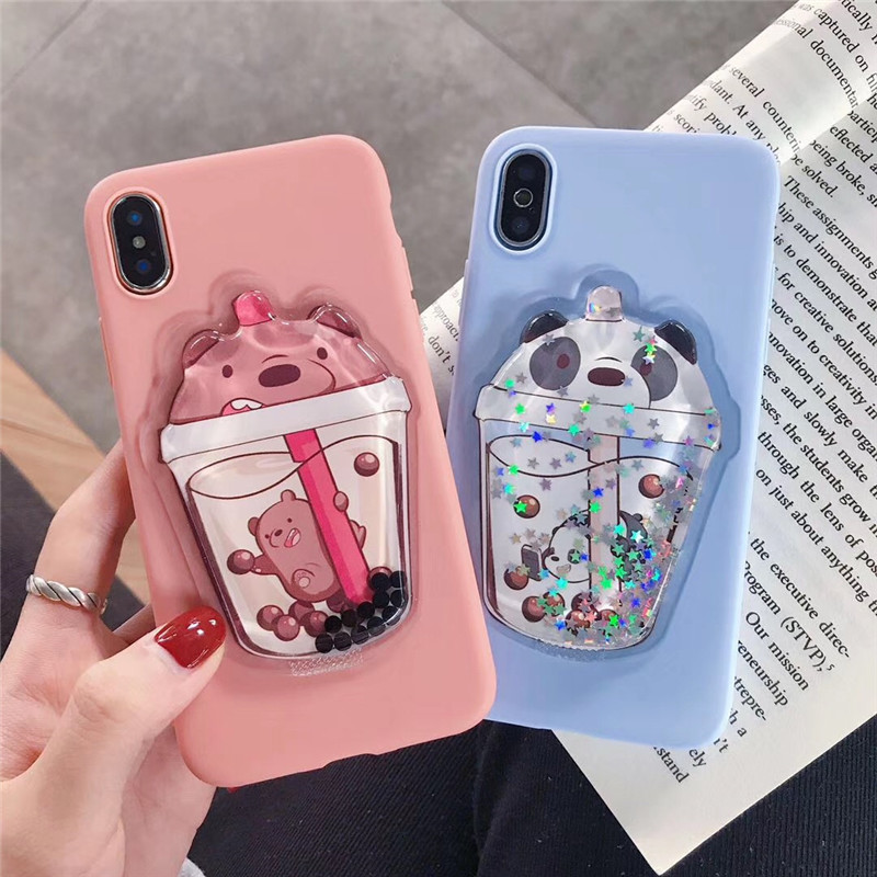 3D Cute Cartoon Quicksand Silicone Phone Case For Huawei P30 Pro Case Cover For Huawei P20 Lite P40 P9 LITE 2017 P Smart 2019