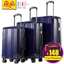 Набор из 3 предметов для багажа с фиксатором TSA Spinner 20in24in28in расширяемый чемодан PC+ ABS Комплект из 3 предметов жесткий багаж
