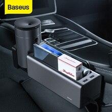 BASEUS Organizer do samochodu, pojemnik, pudełko, z komorami, na kubek, z uchwytem na telefon, do przechowywania, do sprzątania, akcesoria samochodowe