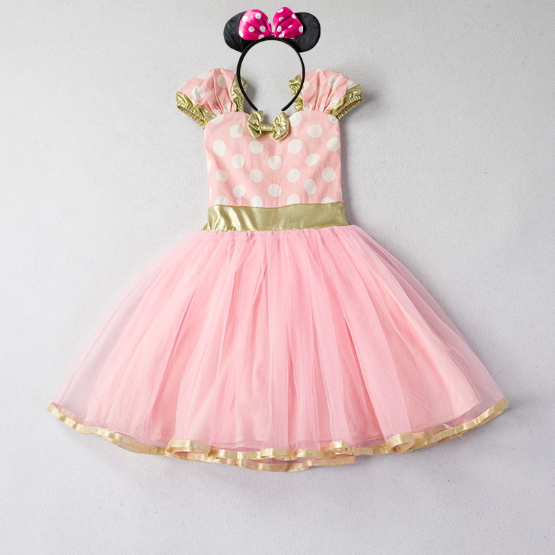 Girls Dress For Baby Kids Cosplay Party Dress Up 1-5 Years Toddler Children Polka Dots Birthday Princess Costume 4
