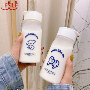Water Cup Female Student Korean Version of The Net Red Casual Cup Plastic Simple Frosted Cute Cartoon High Value Portable Belt