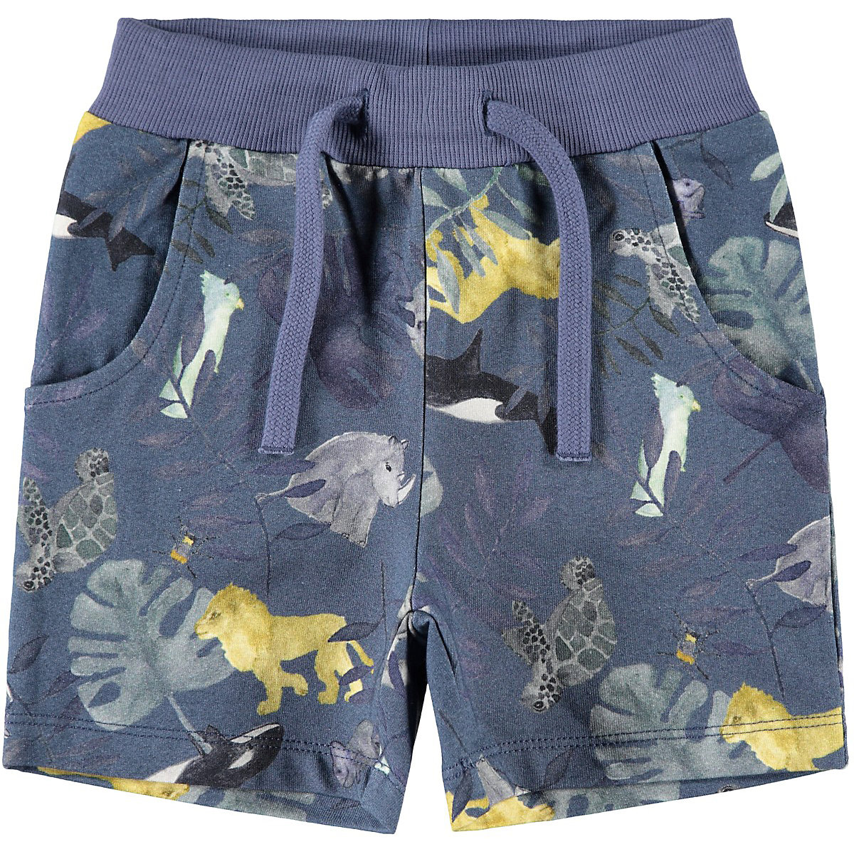 NAME IT Shorts 9383991 for boys and girls child sport for teenagers clothes Cotton Elastic Waist Boys