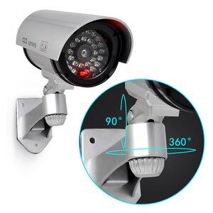 Image 2 - Jooan屋外ダミーカメラ監視ワイヤレスledライト偽カメラホームcctvセキュリティカメラ模擬ビデオ監視
