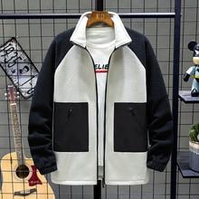 Winter Fleece Hoodies Men Warm Fashion Contrast Casual Sweatshirt Streetwear Hip Hop Loose Zipper Hoodie Man Hoody M-4XL