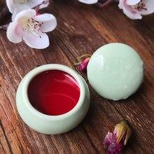 Rouge à lèvres mat comestible, 10 couleurs, Rouge, Blush longue durée, ombre à paupières, 3 en 1, brillant, correcteur, boîte en céramique