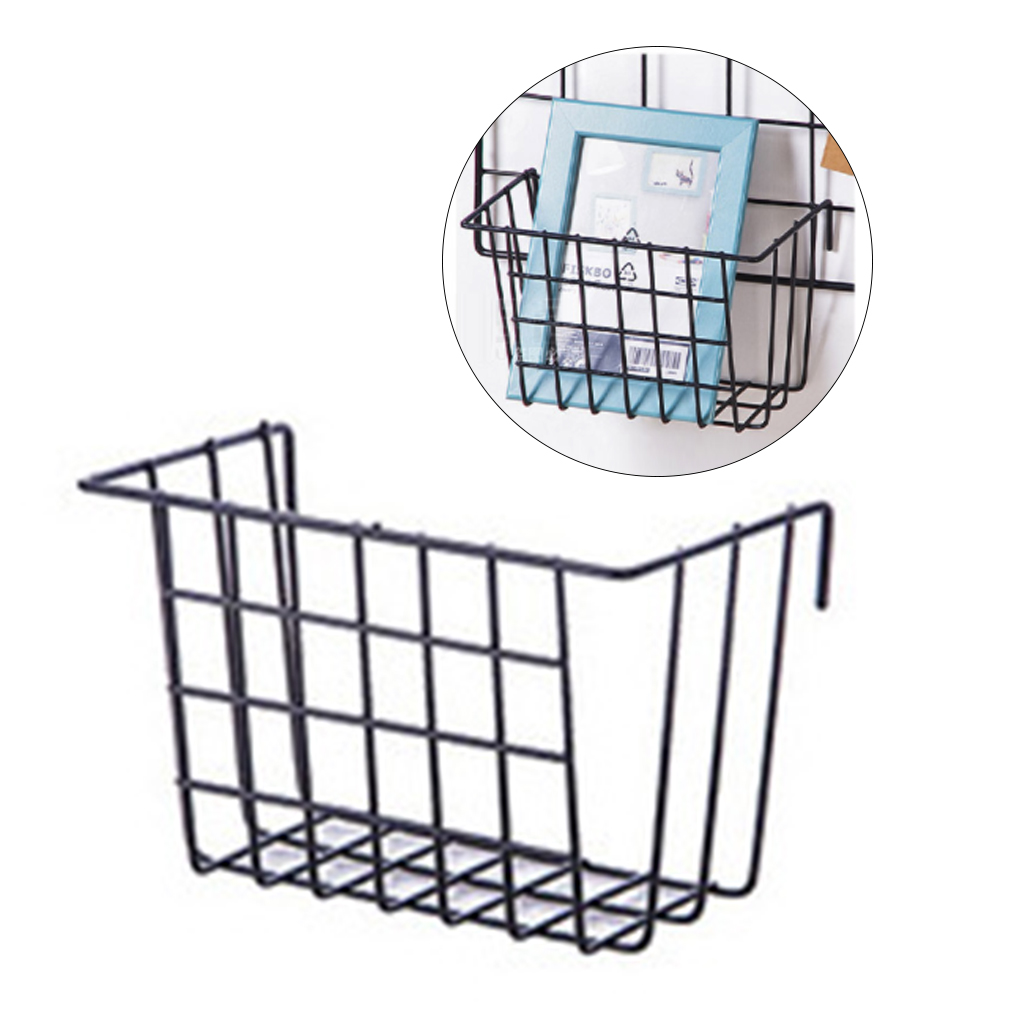 Innovative Grid Hanging Basket Iron Wall Mounted Decorati Flower Pot Shelf Small Items Display Rack Indoor Pendant in Storage Baskets from Home Garden