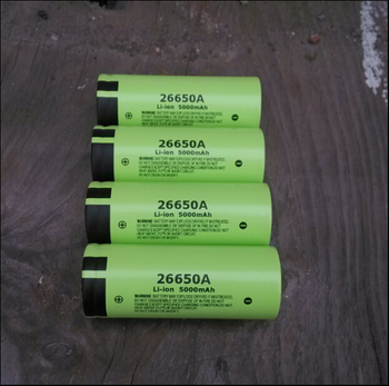 Panasonic 26650A 5000mAh 26650 3.7V High Capacity Lithium-ion Rechargeable Battery Toy Flashlight Li-ion Batteries image