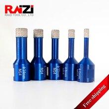 цена на Raizi Tiles Hole Saw Core Bit Vacuum Brazed Diamond Core Drill Bits For Porcelain Marble Granite 1 Pc 6-14 mm (Free Shipping)