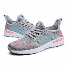Summer Men Shoes Lightweight Lac-up Breathable Mesh Casual Walking Comfortable Sneakers Couple Zapatos