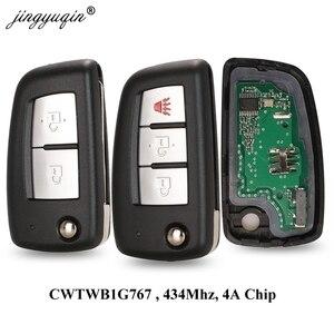 Image 1 - jingyuqin 2/3 Buttons 433MHz 4A PCF7952E Flip Remote Key For Nissan Qashqai J11 Pulsar C13 Juke F15 X Trail T32 Micra CWTWB1G767