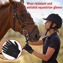 Professional Solid Horse Riding Gloves Cotton Fabric Gloves Leather Equestrian Gloves Unisex Baseball Softball Sports Gloves