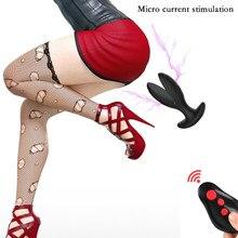 Masseur de Prostate à télécommande sans fil, choc électrique, Silicone étanche, agrandisseur Anal, vibrateur, stimule le jouet sexuel pour hommes