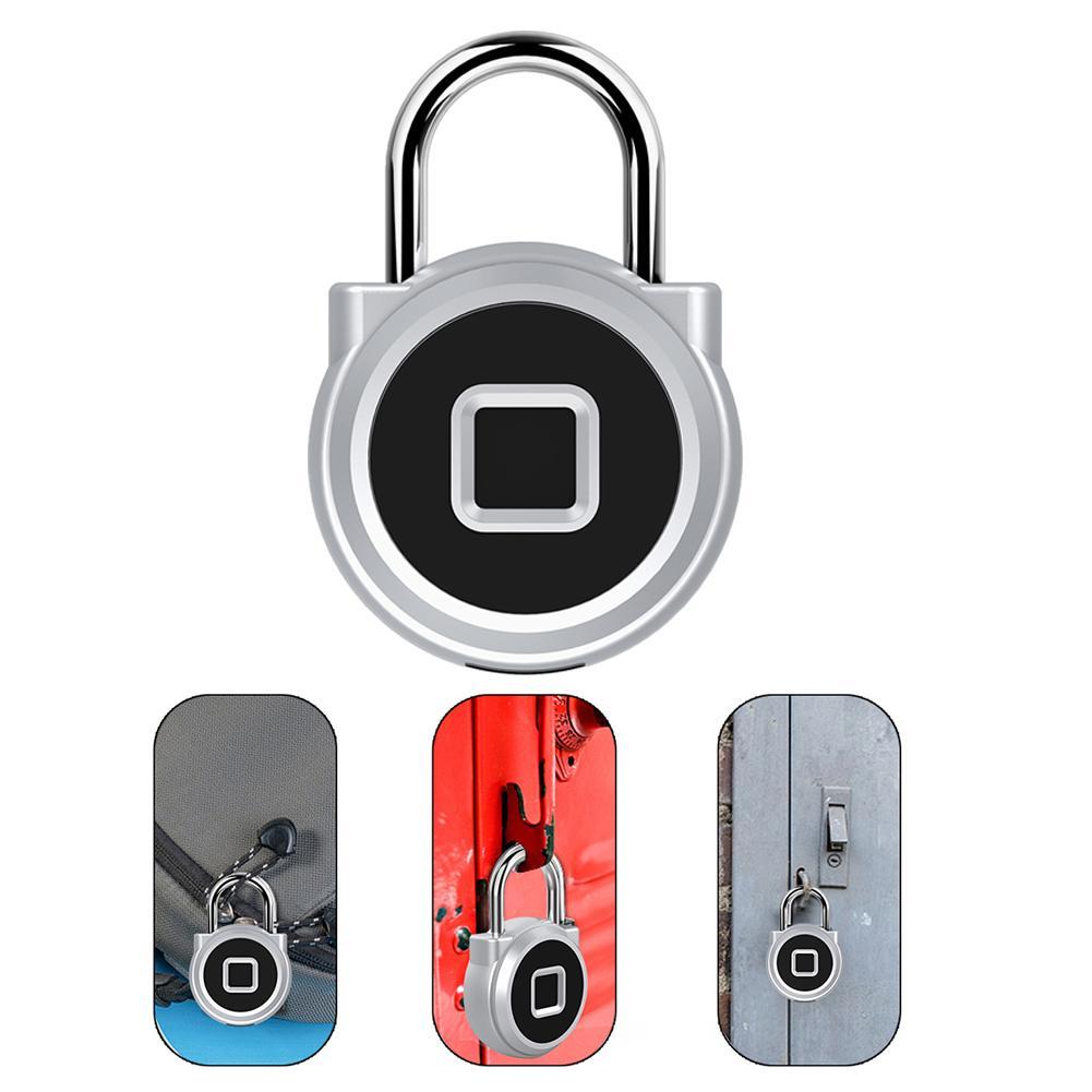 P10 Alloy Fingerprint Padlock Cabinet Lock Electronic Lock Household IP67 Waterproof Smart USB Charging Anti-Theft Keyless Lock