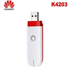 300pcs Lot Unlocked Huawei Vodafone K4203 3g usb modem 21 6mbps dongle new and unlocked wireless modem network card cheap External Laptop Desktop 3g card