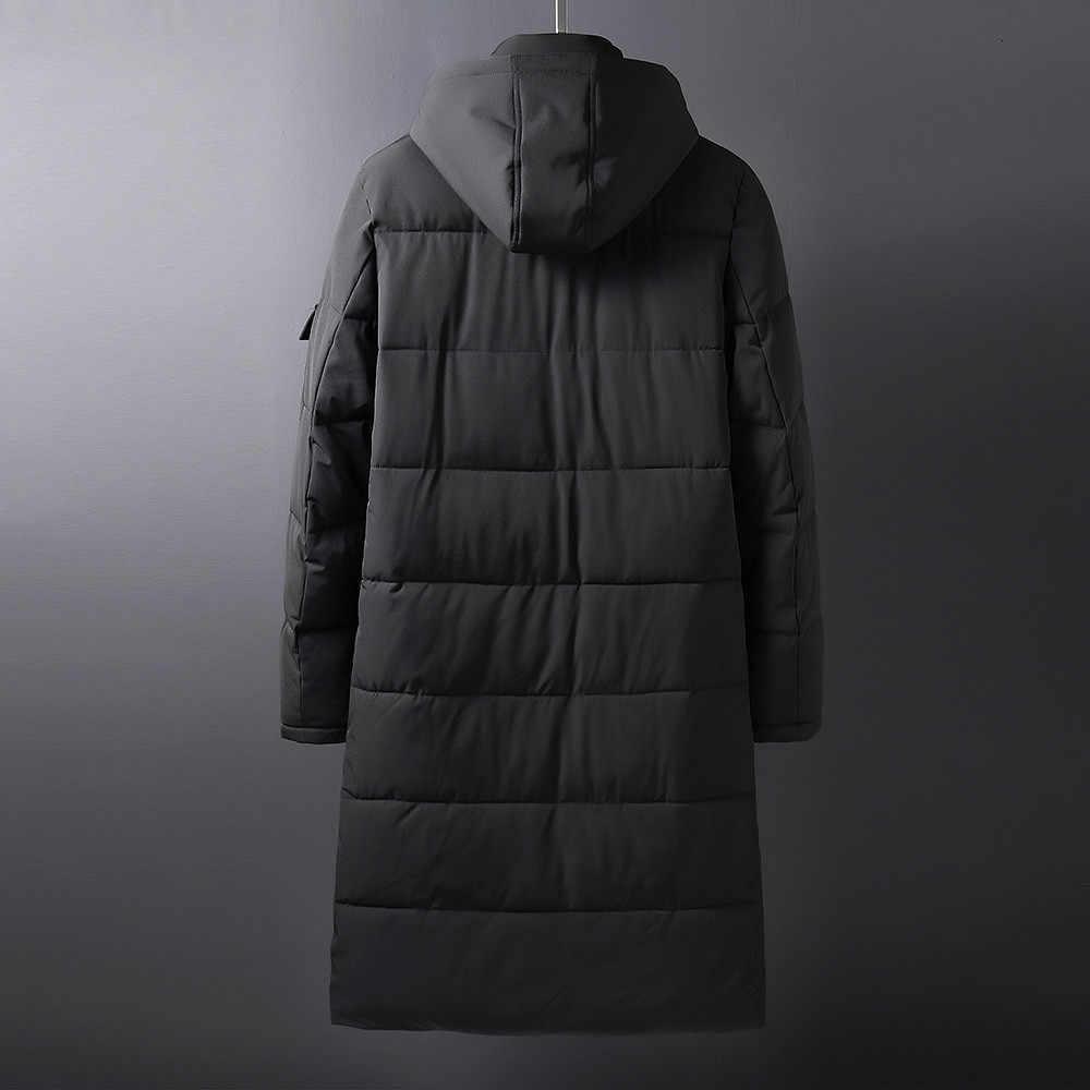 플러스 10xl 8xl 6xl 5x 솔리드 윈터 남성 파커 캐주얼 x-롱 자켓 아웃웨어 thicken warm hooded outwear coat windproof black gray
