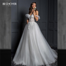 Vestido de Noiva Romantic Appliques Tulle Wedding Dress Sweetheart 2 In 1 Illusion A Line Princess Bride Gown BECHOYER Z124