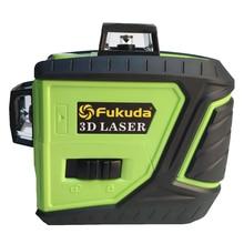 Fukuda зеленый лазерный уровень 3d самонивелирующийся лазерный уровень 360 горизонтальный и вертикальный крест MW-93T-2-3GX