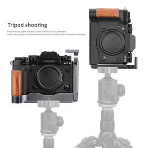 Image 5 - Top for Fujifilm Fuji X T3 X T2 XT3 Camera Grip Quick Release Vertical Shoot QR L Plate Bracket Wooden Hand Grip Holder Black