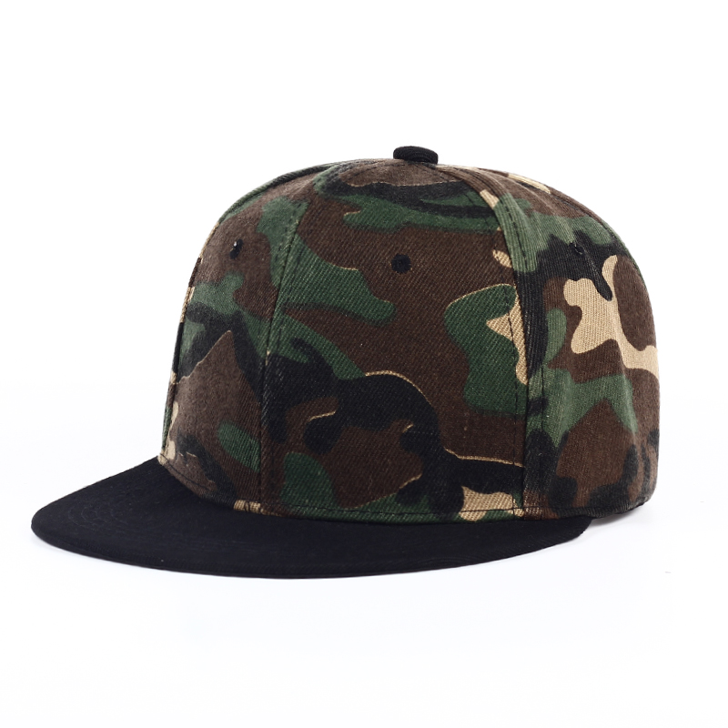 Camouflage Snapback Cap Polyester Blank Flat Camo Baseball Cap Without Embroidery Men's Hats And Hats For Men And Women