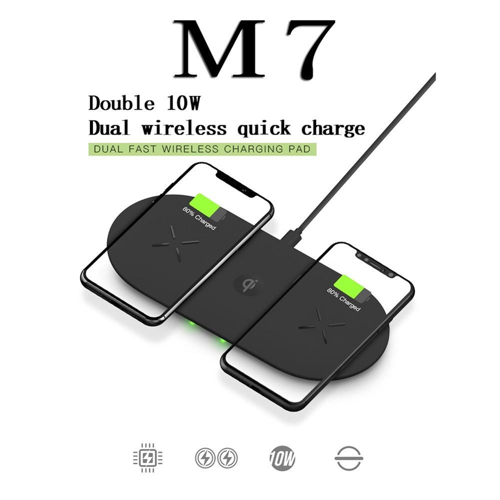 For AirPods 2 for Samsung for Apple Watch Dual / Triple Wireless <font><b>Charger</b></font> <font><b>10W</b></font> Fast Charge Anti-slip Charging Pad image