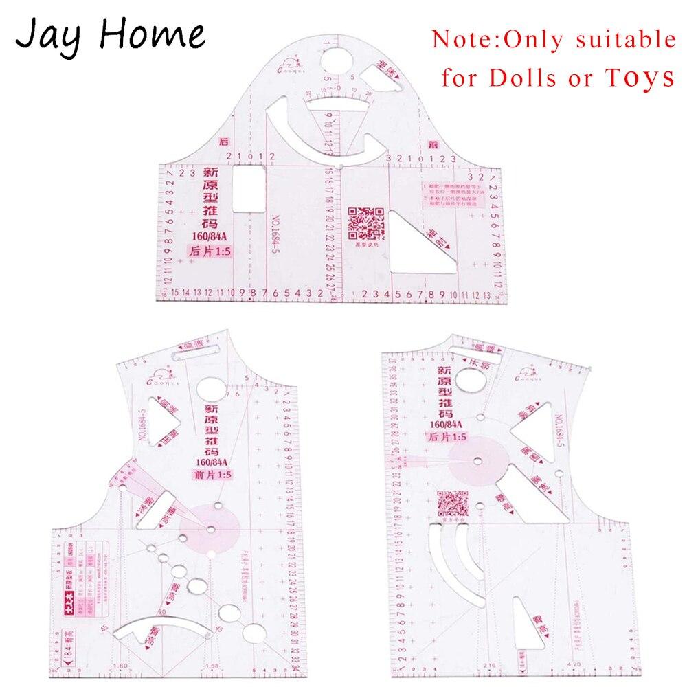 1:5 небольшой одежды куклы игрушки одежда линейка Шаблоны Дизайн линейка пластиковая узор делает измерительной линейкой; По индивидуальном...