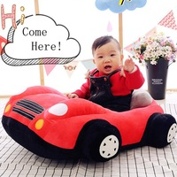 Infant Learning Sit Chair Baby Sitting Chair Support Plush Support Car Seat Toddler Cartoon Car shaped Sofa