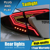 4 sztuk Car Styling dla Toyota C-HR Taillights 2018 dla C-HR dynamiczna tylna lampa LED + Turn Signal + Brake + rewers LED light
