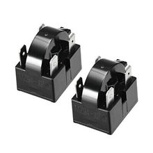 2 Pcs 12 Ohm 4 Pin Refrigerator PTC Starter Relay Black 2 pcs 15 ohm 1 pin refrigerator ptc starter relay black