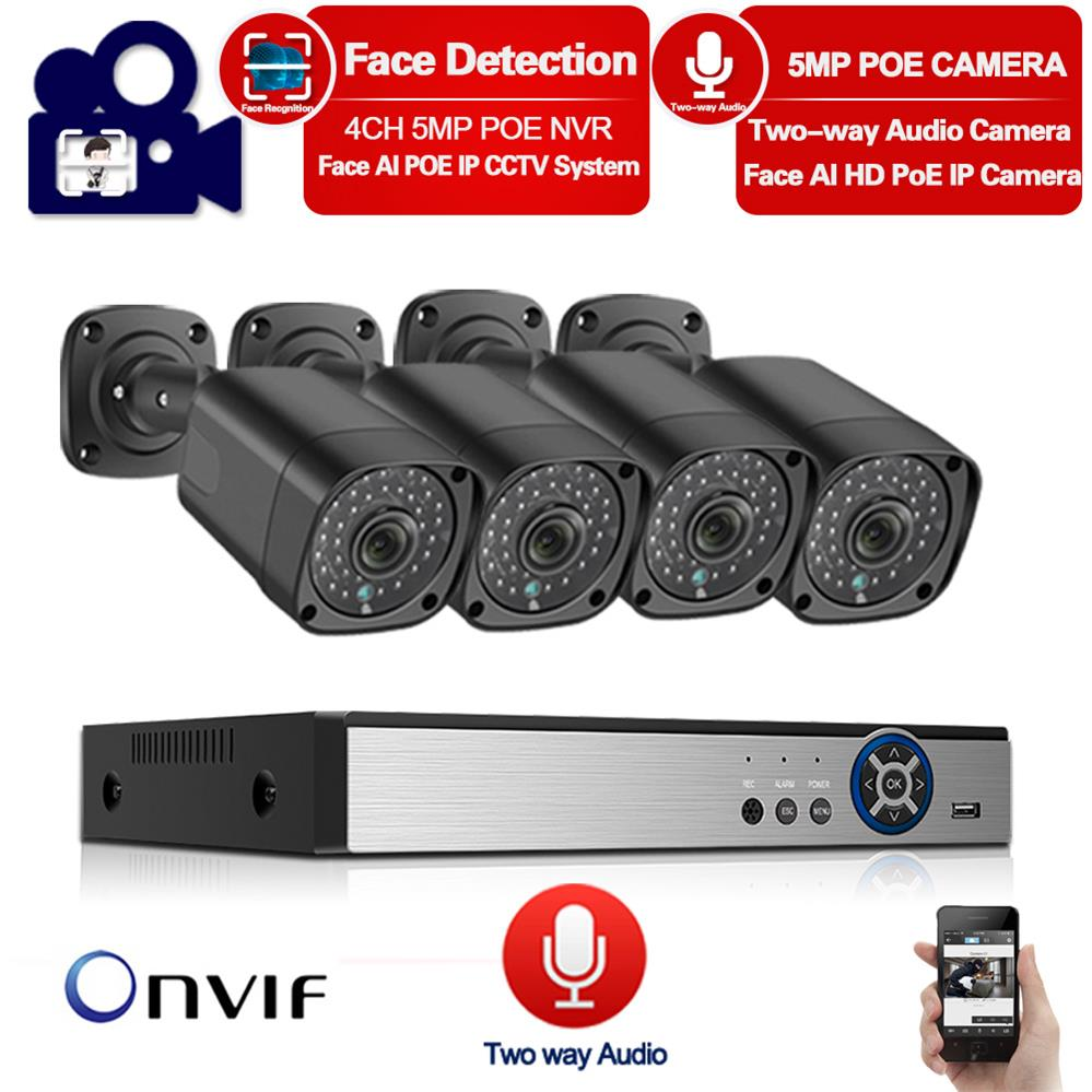 HD 5MP <font><b>POE</b></font> NVR Kit 4CH CCTV <font><b>Camera</b></font> System Audio <font><b>Outdoor</b></font> <font><b>IP</b></font> <font><b>Camera</b></font> Home Security Alarm NVR Kit Night Vision <font><b>POE</b></font> Surveillance <font><b>Set</b></font> image