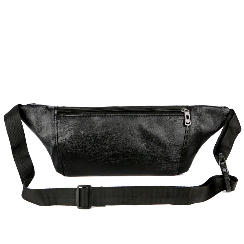 2019 Casual Leather Waist Bag Men Money Phone Fanny Pack Vintage Men's Leather Waist Belt Bag Small Travel Waist Packs Male