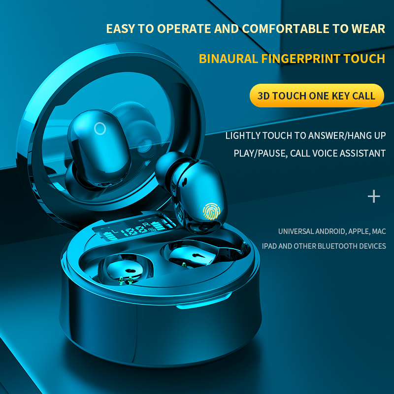 lowest price Original F9 Wireless Headphones TWS Bluetooth5 0 earphone HiFi IPX7 Waterproof earbuds Touch Control Headset for sports  game