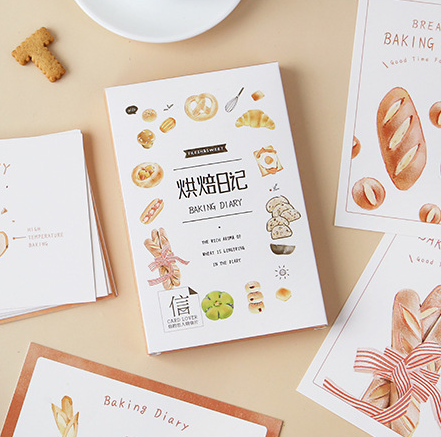 Bread Time Paper Postcard(1pack=30pieces)