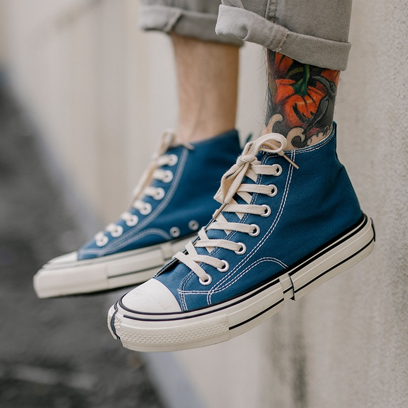 Lovers High Top Sneakers Women Vulcanize Shoes Sneakers New Lace up Shoes Women Canvas Breathable Yellow Orange Sneakers Women